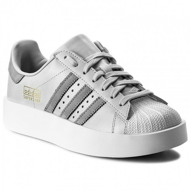 ADIDAS SUPERSTAR BOLD PLATFORM LOW SNEAKERS WOMEN SHOES GREY CG3694 SIZE 7.5 NEW