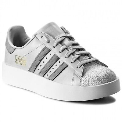 new style fac7a efd4c ADIDAS SUPERSTAR BOLD PLATFORM LOW SNEAKERS WOMEN SHOES GREY CG3694 SIZE 10  NEW | eBay