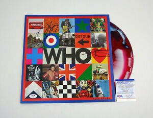 The Who Entire Band Signed Autograph Who Limited Vinyl Record Album PSA/DNA COA
