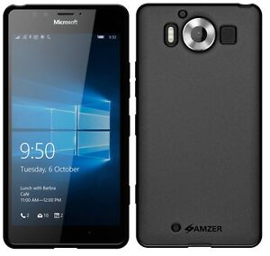 AMZER-Exclusive-Pudding-Matte-TPU-Case-Skin-Cover-For-Microsoft-Lumia-950-Black