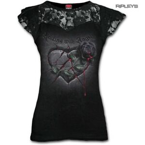 Spiral-Direct-Ladies-Black-Goth-RESTING-With-Angels-Top-Lace-Rose-All-Sizes