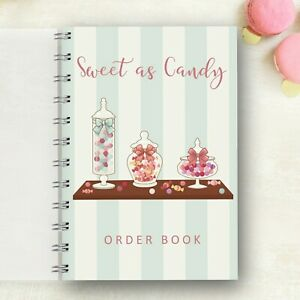 Details about Personalised Order Book Candy Jars Order forms, Customer Log  Sales