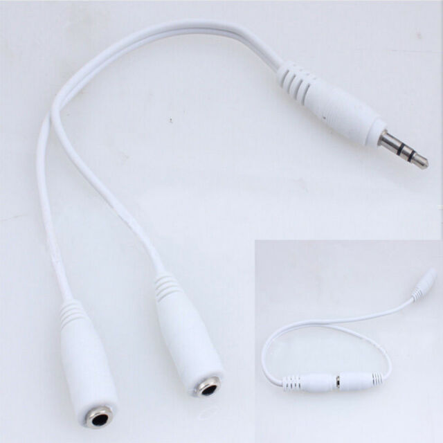 Quality New 3.5mm Hot Cable Splitter Adapter Earphone Headphone