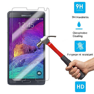 9H + Ballistic Tempered Glass Screen Protector Guard For Samsung Galaxy Note 4