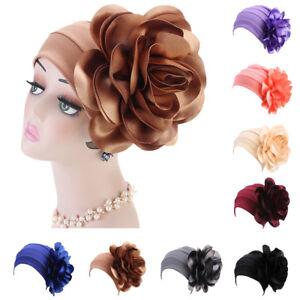 New-Women-Indian-Muslim-Beanie-Turban-Hat-Flower-Head-Scarf-Wrap-Chemo-Cap-Arab