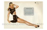 Pin Up Girl Poster 11x17 Alberto Vargas Varga Esquire Calendar February 1947