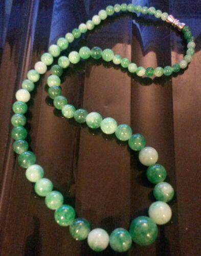 """Ne Ciruela UK 18/""""//45 cm Collar De Jade Piedra Natural con cierre de tornillo en Caja De Regalo"""