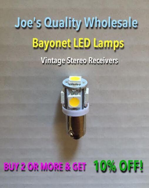 (10)BAYONET LED-LAMPS/6.3V AC-COOL&WARM WHITE--STEREO PREAMP-MC/MAC/PANEL-KR