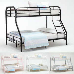 Image Is Loading Twin Over Full Size Metal Bunk Beds Kid