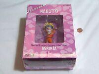 Naruto Uncut Dvd Box Set 11 W/ Limited Edition Mininja Figure & Cards Sealed
