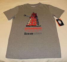 BBC Doctor Who Dalek Mens Grey Marle Printed Short Sleeve T Shirt Size L New