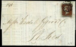 Printed-Corn-Report-1841-SG7-1d-Red-Black-Plate-9-PA-c-325-00