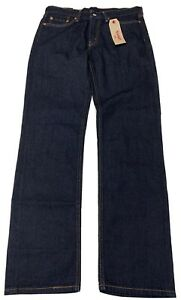 Levis-514-Straight-Mens-Dark-Blue-NEW-Jeans-32x34-Cotton-NEW