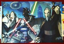 Star Wars: Tales From The Clone Wars - CV Villains Poster - Art By Tom Hodges
