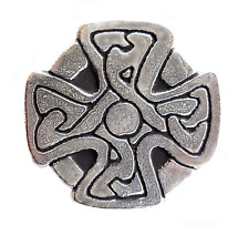 St Just In Roseland Celtic Cross Pewter Pin Badge - Hand Made in Cornwall
