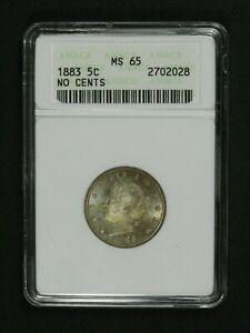 1883-No-Cents-Liberty-V-Nickel-Old-White-ANACS-Holder-MS-65
