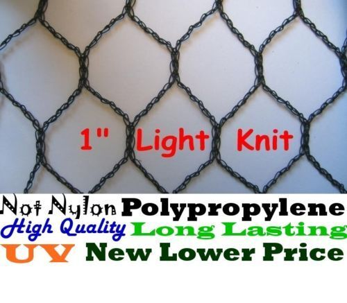 "Poultry Netting 25/' x 100/' 1/"" Light Knitted Aviary Bird Quail Pheasant Net Nets"