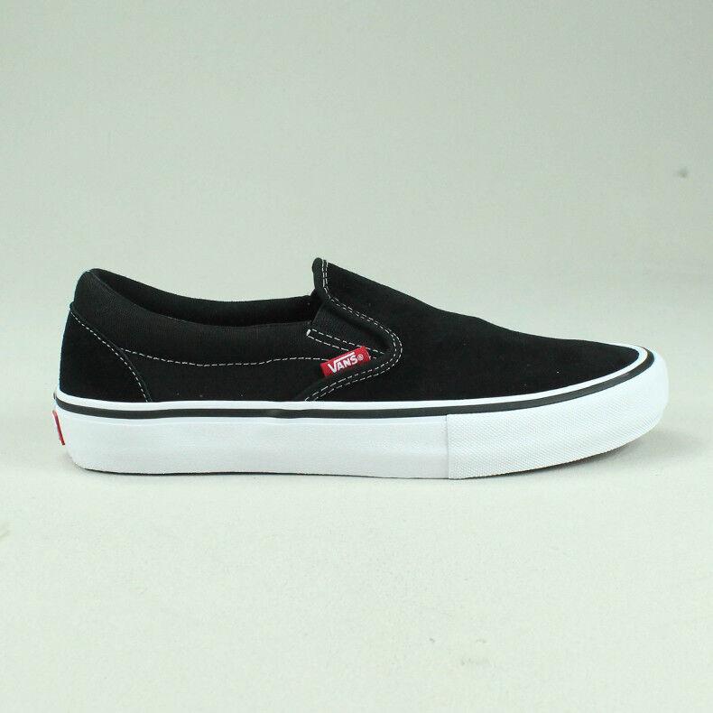 Vans Slip-On Pro Plimsolls shoes Trainers Black White UK Size 4,5,6,7,8,9,10