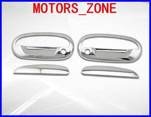 For Ford F-150//Lightning 97-03 Chrome Mirror Cap /& 2 Doors Handles Covers Keypad