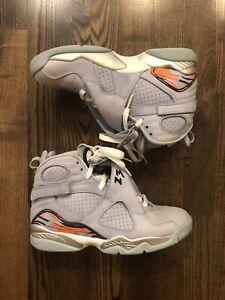 lowest price 58509 7ab91 Details about Nike Air Jordan 8 Retro Ice Blue Orange Blaze (316836-401)  Women's Size 7.5