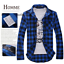 Men-039-s-Classic-Casual-Plaid-Shirt-Fashion-Long-Sleeve-Button-up-Cotton-Shirt-Top thumbnail 4