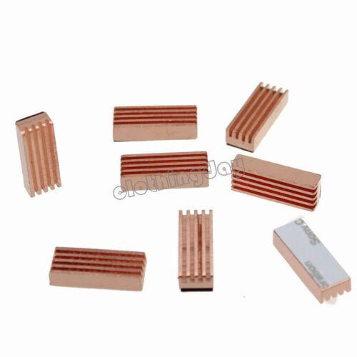 8PCS Pure Copper Memory Chipset Cooler Heat Sinks HeatSink For IC DDR RAM VGA
