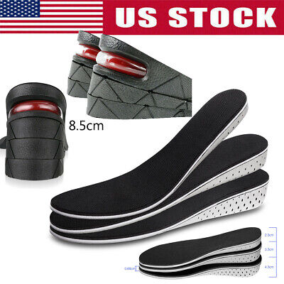Men Women Invisible Heel Lift Insert Shoe Pads Increase Height Insoles Soft