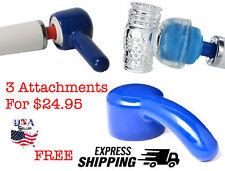 HITACHI Magic Wand Massager Attachments 3 Piece Set  High Quality Fast shipping