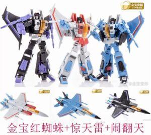 Skywarp /& Thundercracker Set of 3 Jinbao DF-06 Air Craft Battlers Starscream