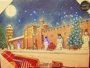 Cardiff Castle at Christmas - Light up Painting / Canvas - Tony Paultyn