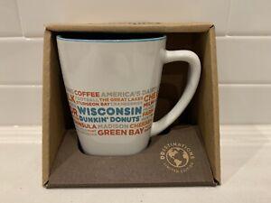 NEW Dunkin Donut Wisconsin DD Destinations Coffee Tea Cup Mug 12 oz RARE