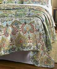 (1) Beautiful Paisley Handcrafted Giselle King Size Quilt Bed Bedroom
