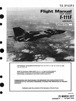 1970's F-111 F-111F Aardvark Jet Manuals PERIOD DETAIL General Dynamics 800+pgs