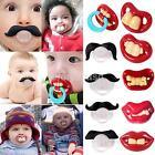 Teeth Mustache Baby Boy Girl Infant Pacifier Orthodontic Dummy Beard Nipples US