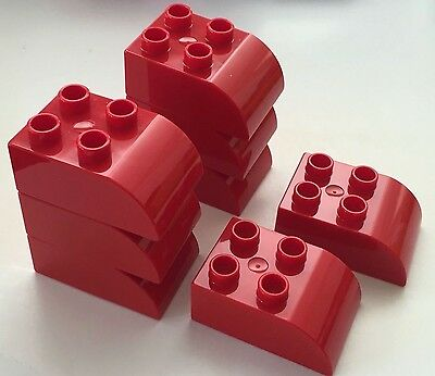*NEW* 4 Pieces Lego DUPLO Brick 2x3x2 RED with CURVE