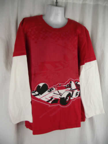 BNWT Boys Sz 7 Urban Crusade Brand Red//White Layered Long Sleeve Round Neck Top