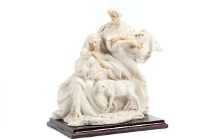 Rare-Vintage-CAPODIMONTE-Porcelain-Sculpture-titled-034-Holy-Family-034