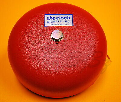"Wheelock Red 10/"" Alarm Bell 12 VDC Motor Bell MB-G10-12-R"