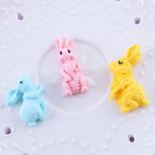 Rabbit Silicone Fondant Mold Bunny Chocolate Gum Paste Mold Cake Decor Tool DP
