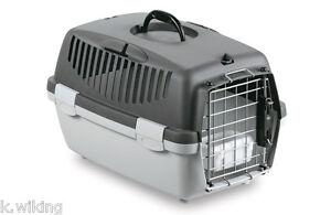 Transportbox-Gulliver-1-Deluxe-mit-Metalltuer-Hunde-Katzen-Flugbox-Autobox-IATA