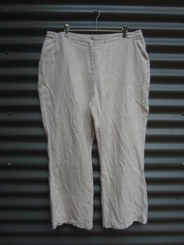 Fawn Linen Pants No Label Size Measured Waist 36 in