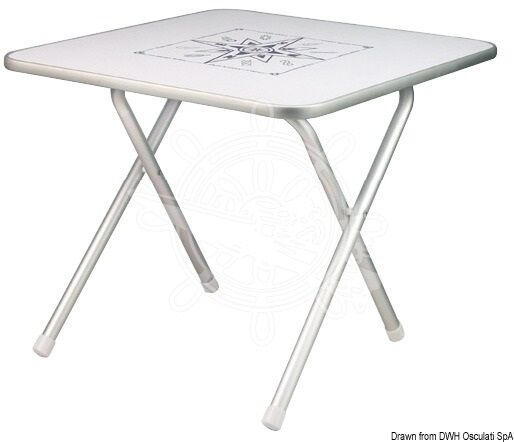 Folding Table of White verzalit Table Camping Table Ornament Square