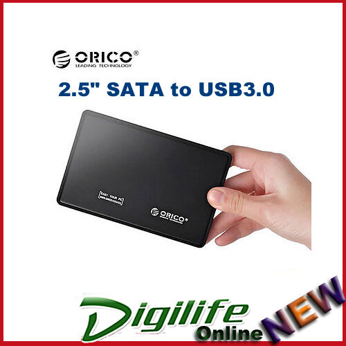 "1 of 1 - ORICO 2588US3 Portable Tool Free 2.5"" SATA to USB 3.0 Hard Drive Enclosure"