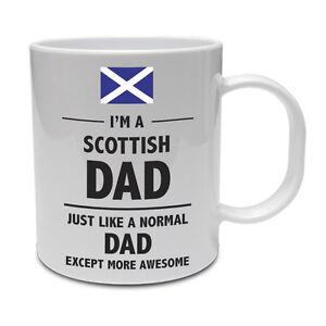 Scottish Dad Scotland Daddy Father Funny Gift Idea Ceramic
