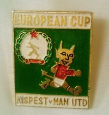 Kispest Honved vs Manchester United 1993-94 Champions League Large Enamel Badge