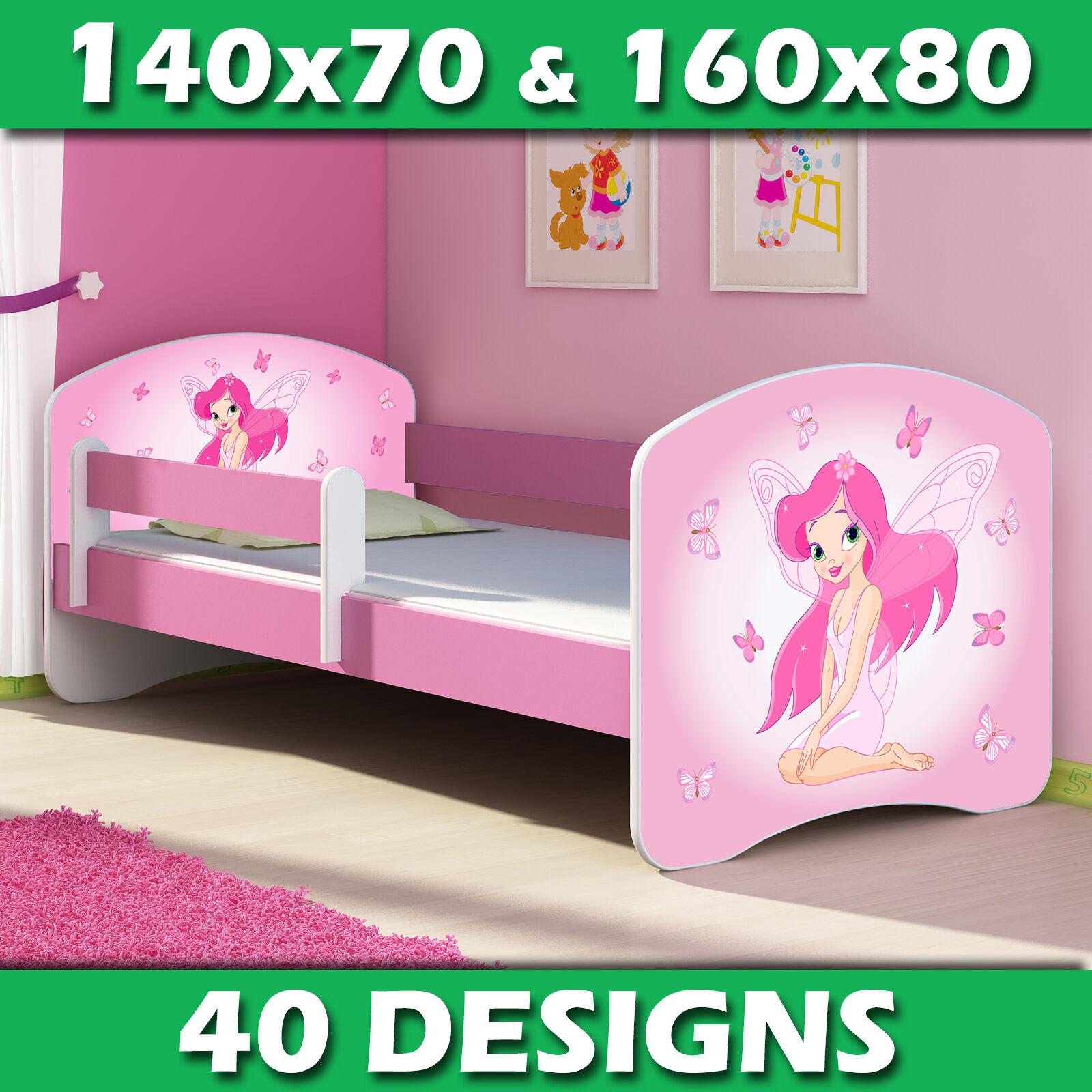 Lit enfant Bébé 140x70 160x80 + MATELAS + LIVRAISON GRATUITE ROSE