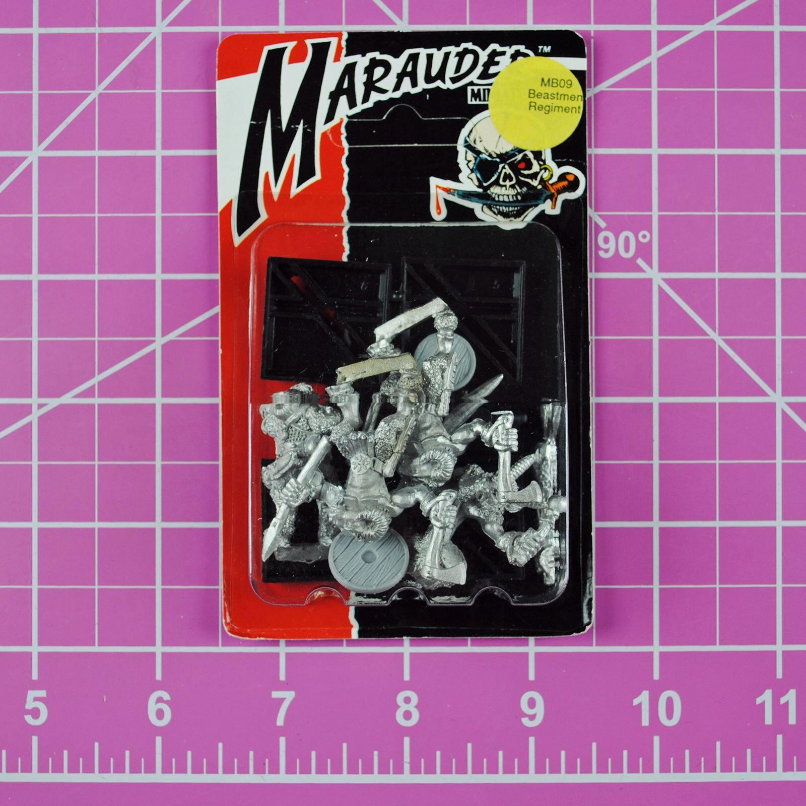 Warhammer Marauder Miniatures MM09 Beastmen Regiment NIB Metal, Rare OOP Citadel