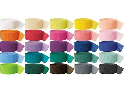 BUY 3 ROLLS CREPE STREAMER    CREPE PAPER STREAMER PARTY DECORATION 81 FT
