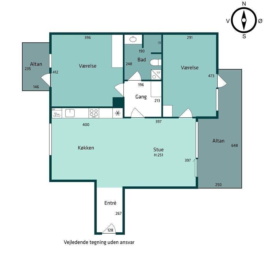 2300 vær. 3 lejlighed, m2 102, C.F. Møllers Allé