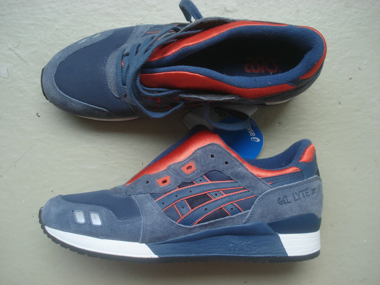 Asics Gel Lyte III 3 3 3  2013  45 Navy Orange 3ea29a